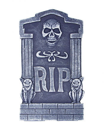 Grabstein R.I.P. mit Totenkopf