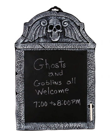 Grave stone slate with chalk