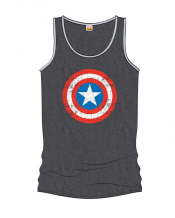 Captain America Girlie Tank Top Grey