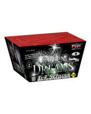 Green Dreams Battery Fireworks 64 Shot