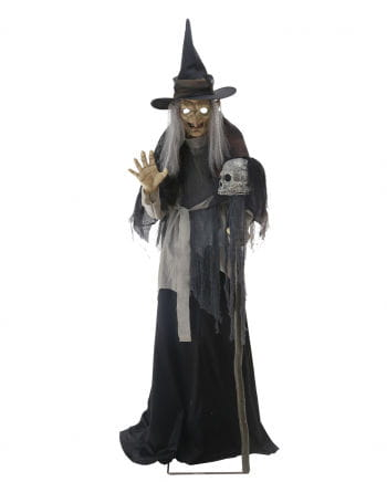 Cross Witch Halloween Animatronic