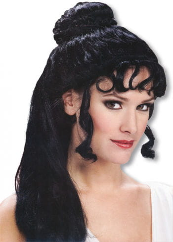 Greek Princess Wig Black