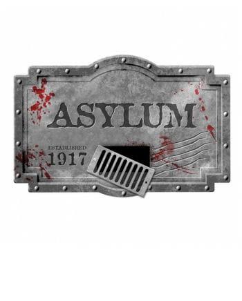 Großes Asylum Deko Schild