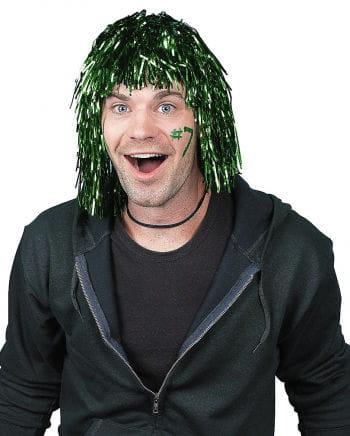 Grüne Lametta Perücke