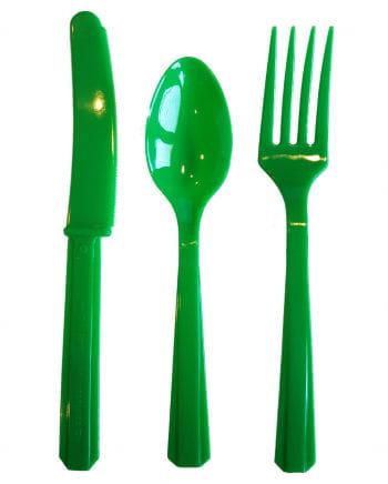 Green Cutlery 24-Piece