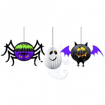 Halloween Gruseldeko 3 pieces
