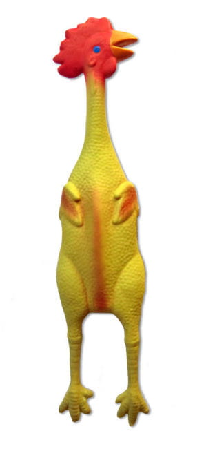Yellow Rubber Rooster approx. 50 cm