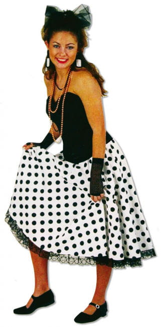 Elasticated Polka Dot Skirt XL / 42