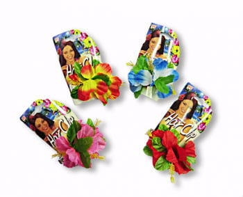 Haarclip mit Hibiskusblüte (div.Farben)