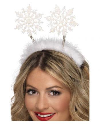 Haarreif mit Schneeflocken