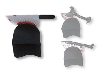 Halloween Cap with Butcher Knife
