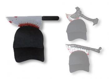 Halloween Cap mit Fleischermesser