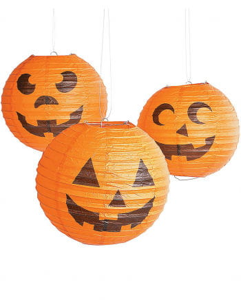 Halloween Kürbis Lampions 6er Pack