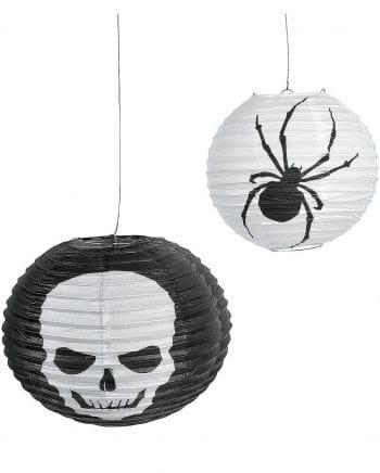 Halloween Skull Spider Lampions 6er Pack