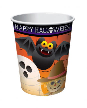 Halloween paper cup with horror motif 8 St.