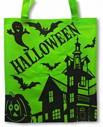 Halloween Stofftasche grün