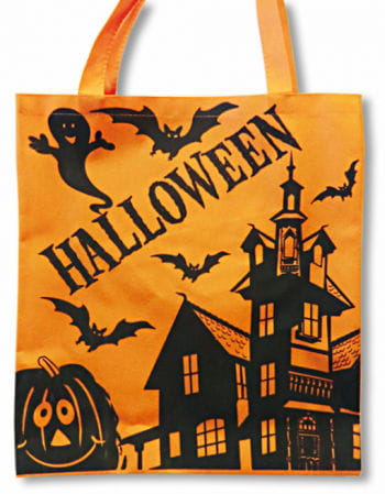 Halloween Stofftasche orange