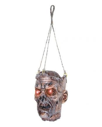 Zombie Kopf mit LED-Augen