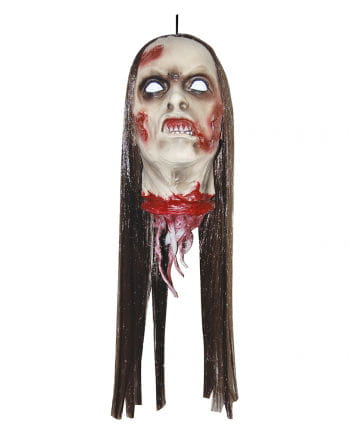 Abgetrennter Zombie Frauenkopf