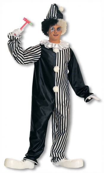 Harlequin clown costume with collar