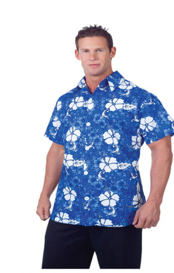 Hawaiian Shirt Blue Plus Size