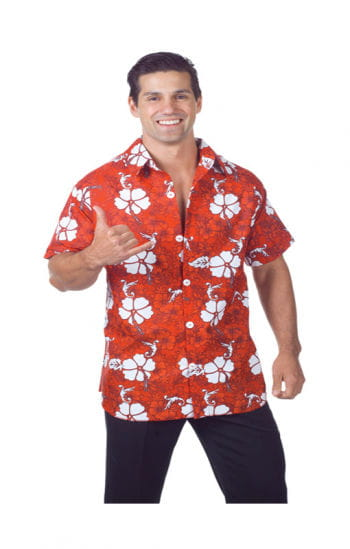 Hawaii Hemd Rot Plus Size