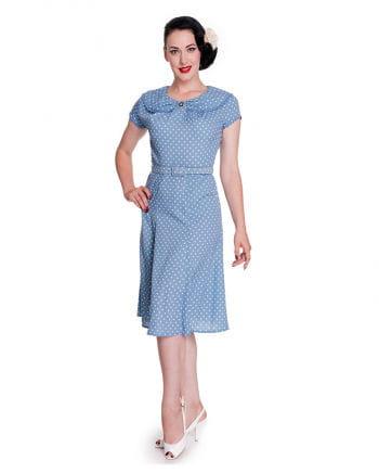 Hell Bunny Polka Dot Kleid blau