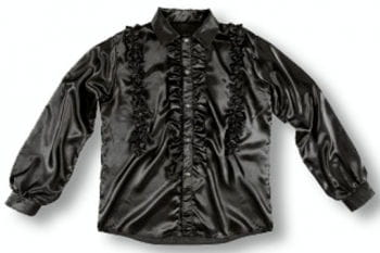 Ruffle Shirt Black XL