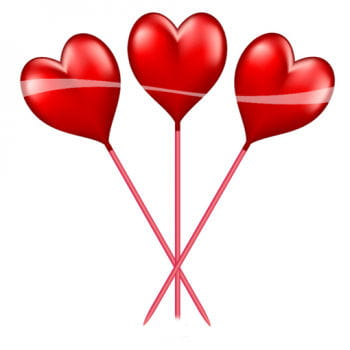 10 Herz Picker rot