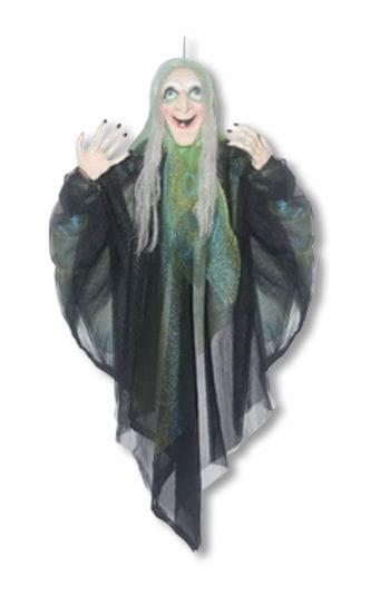 Hexen Hängefigur mit grünem Umhang