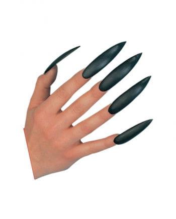 Hexen Fingernägel schwarz selbstklebend