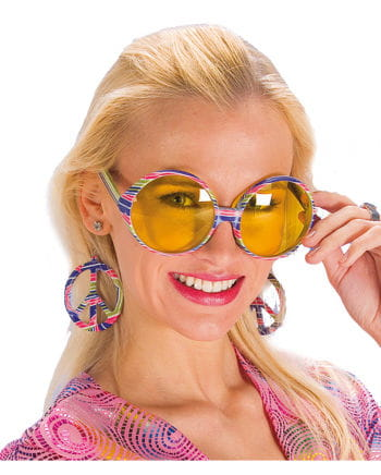 Flowerpower glasses with earrings