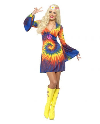 Hippie Mini Dress in batik optics