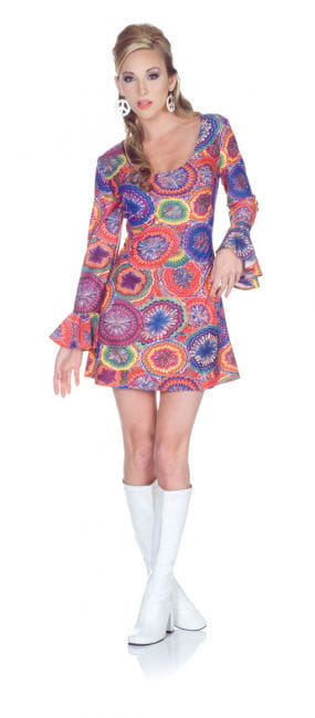 Hippie Minidress Psychedelic XL