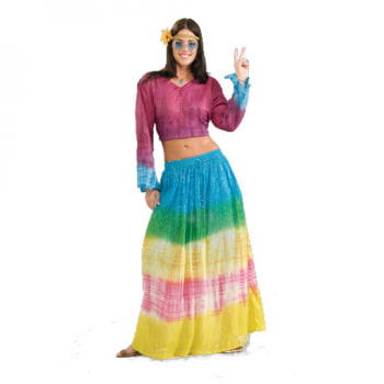 Tie Dye Hippie Skirt Rainbow