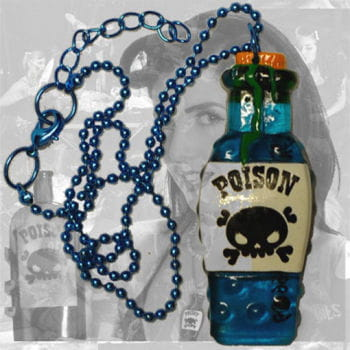 Horror Necklace poison bottle