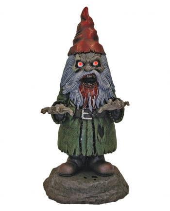 Horror Gartenzwerg mit LED Augen