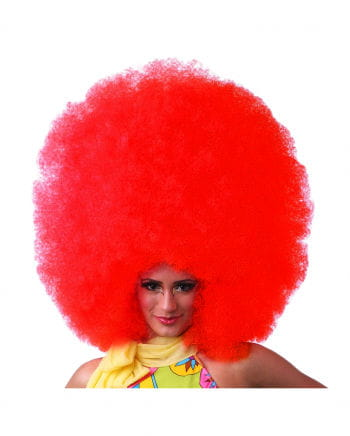 Afro wig XXL red