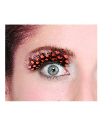 polka dots feather eyelashes Orange