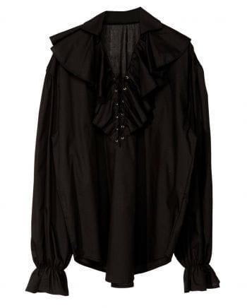 Historical ruffled shirt black