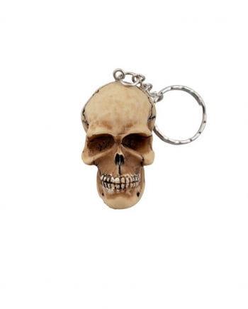 Skull Keychain Beige