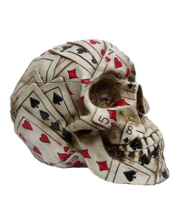 Poker skull made of polyresin