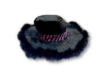 Schwarzer Pimphut mit Hutband