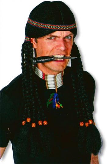 Indianer Perücke mit Zöpfen