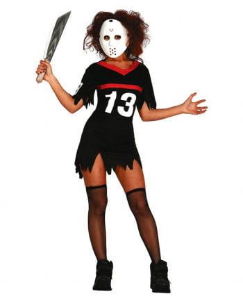 Eishockey Damenkostüm mit Maske
