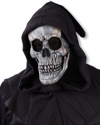 Hooded Skull Mask Silver