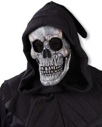 Kapuzen Schädel Maske silber