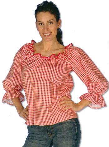 Checked Blouse Red/White XXL/XXXL 44-46