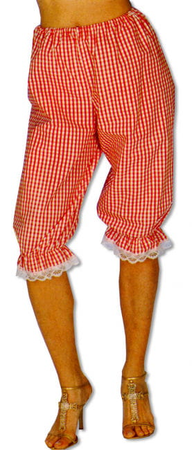 Checked Bloomers Red/White S/M 36-38