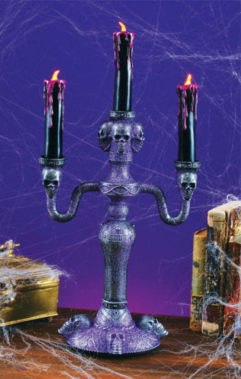 Candleholder with LED Candles Purple